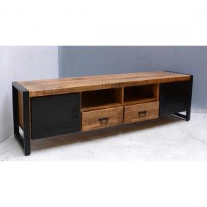 breedte tv meubel mangohout