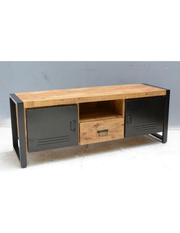 tv meubel mangohout 2 lades