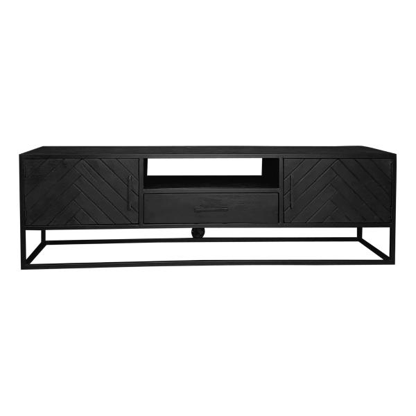 TV meubel zwart mangohout
