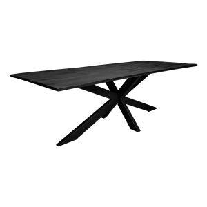 Zwarte rechthoekige tafel mangohout