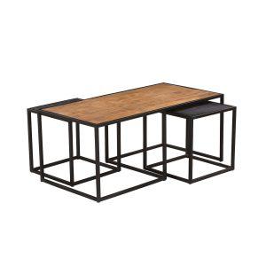 Vrijstaand salontafel cosmo set van 3 rechthoek