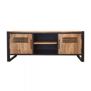 tv meubel lockerkast van mangohout